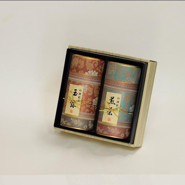 京都利休園 お茶 玉露・煎茶詰合せ 玉露80g 煎茶80g お中元 お茶ギフト 国産 茶葉 MG-302
